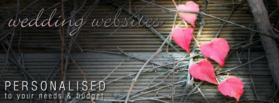 personalised wedding websites